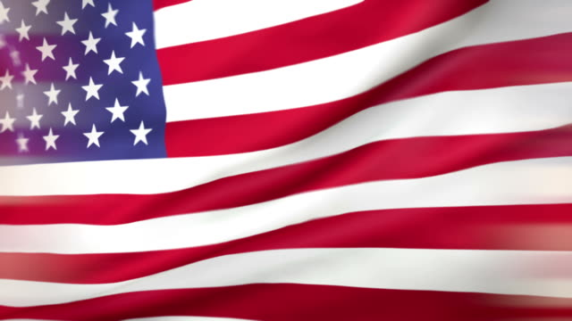 american flag loopable usa - flag blowing in the wind stock videos & royalty-free footage