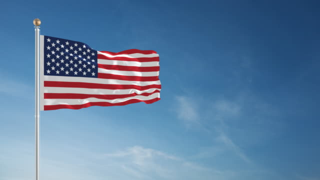 4k american flag - loopable - stars and stripes stock videos & royalty-free footage