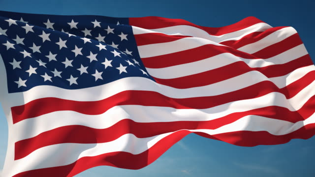 4k american flag - loopable - flag blowing in the wind stock videos & royalty-free footage