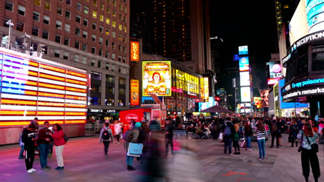 american flag, nypd, time sqare - pedestrian zone stock videos & royalty-free footage