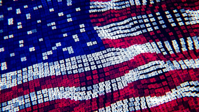 american flag - particle digital flag - election stock videos & royalty-free footage