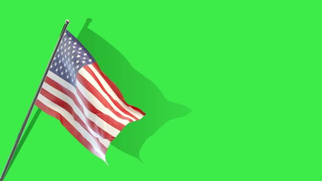 american flag Rising