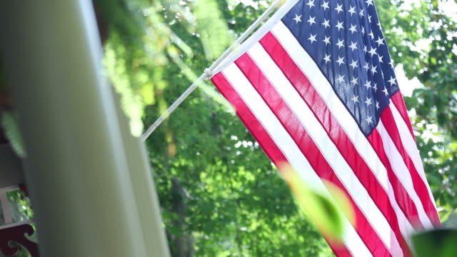 american flag - porch stock videos and b-roll footage