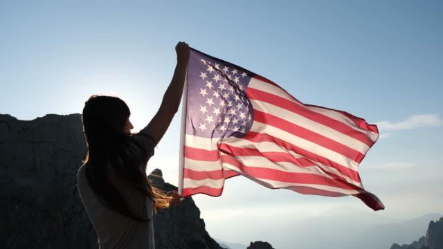 vidéos et rushes de drapeau américain - patriotisme