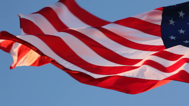 american flag - pledge of allegiance stock videos & royalty-free footage