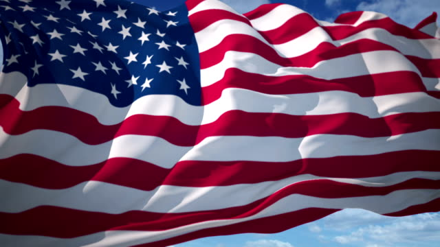 american flag - flag stock videos & royalty-free footage