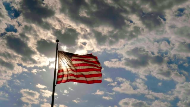 american flag - pole stock videos & royalty-free footage