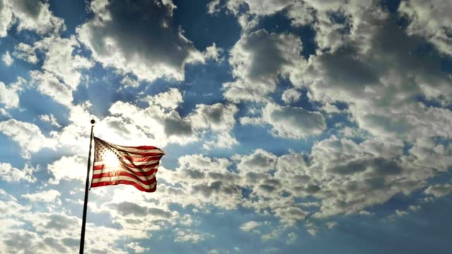 american flag - stars and stripes stock videos & royalty-free footage