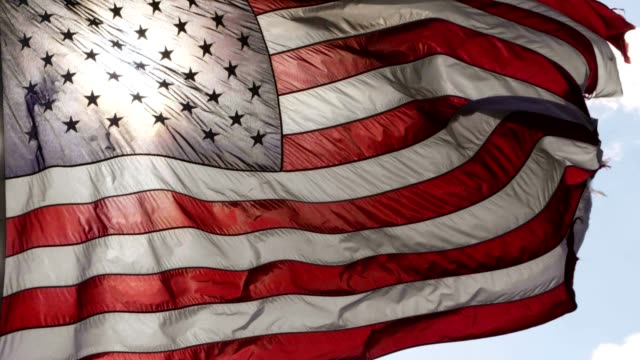 american flag - stati uniti d'america video stock e b–roll