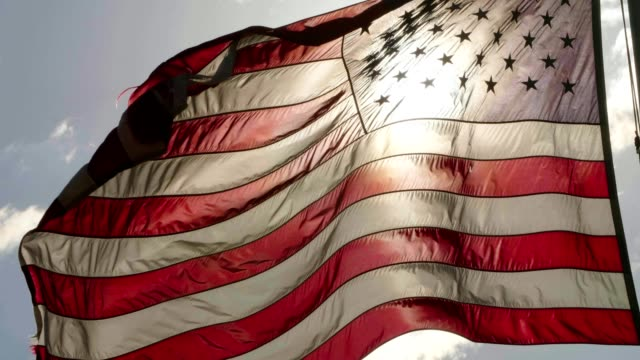 american flag - back lit stock videos & royalty-free footage