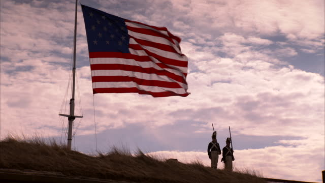 American flag waving at Fort McHenry