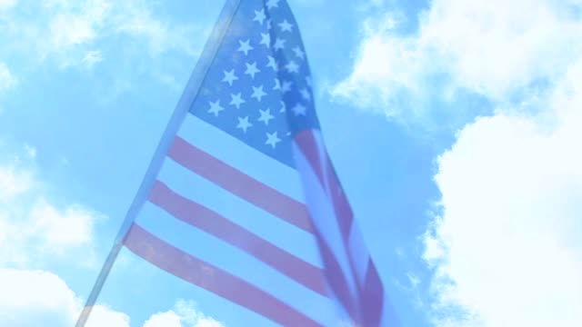 american flag waving in the breeze. - fade out stock videos & royalty-free footage
