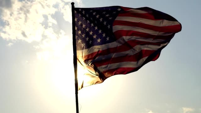 american flag waving - stars and stripes stock videos & royalty-free footage