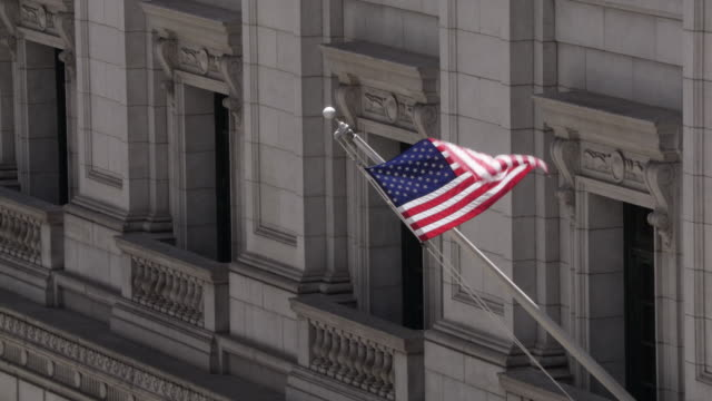 american flag waving - courthouse stock videos & royalty-free footage