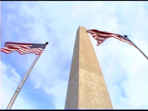 American flags by Washington Monument, Washington DC