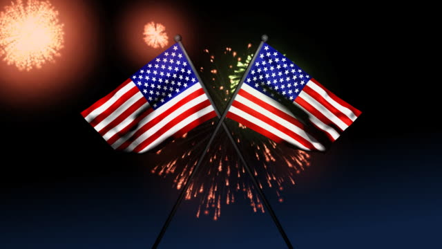 american flags - fourth of july stock videos & royalty-free footage
