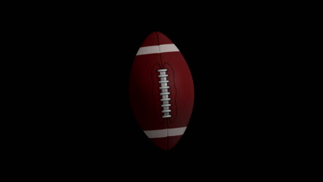 American football animation with black screen