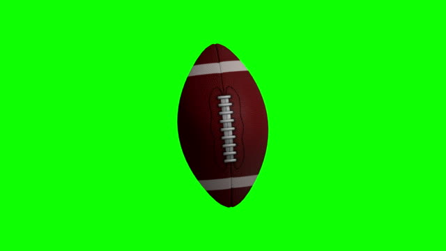 American football animation with green screen