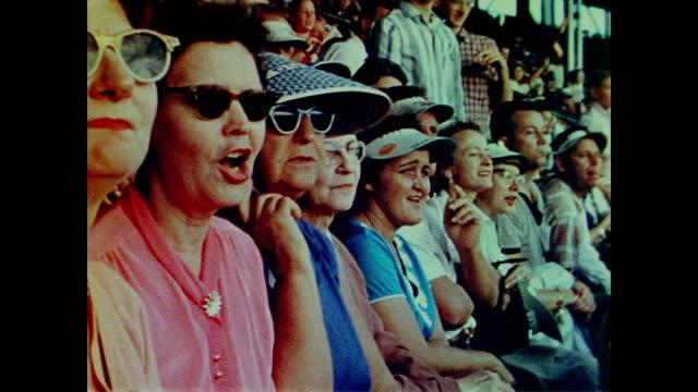 1958 American football fans cheering