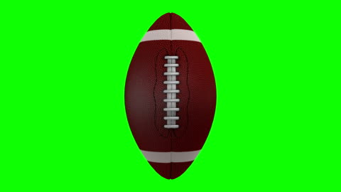 american football rotating over a chroma key background - spinning stock videos & royalty-free footage