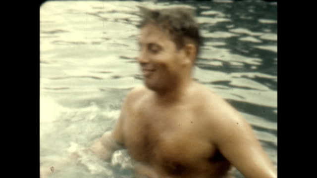american gi's smile for camera after a swim - luzon stock videos & royalty-free footage