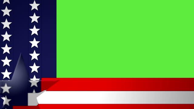 stockvideo's en b-roll-footage met american graphic overlay - politieke bijeenkomst