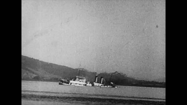 american gunboat panay attacked and sunk by japanese air force on yangtze river in china. uss panay considered to be the first american warship to be... - world war ii stock videos & royalty-free footage