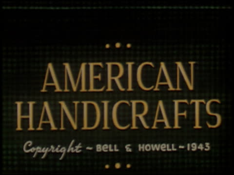 american handicrafts - 1 of 13 - see other clips from this shoot 2082 stock videos and b-roll footage