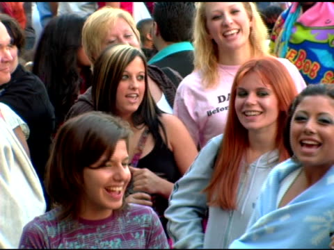 american idol contestants on line at new york/new jersey regional auditions at the 'american idol' season 6 new york/new jersey auditions at... - american idol stock videos and b-roll footage