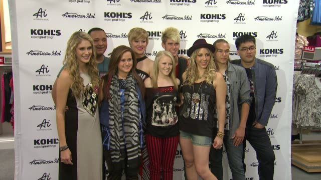 american idol season 11 contestants appear at los angeles kohl's for american idol's authentic icon collection event capsule chyron american idol... - american idol stock videos and b-roll footage