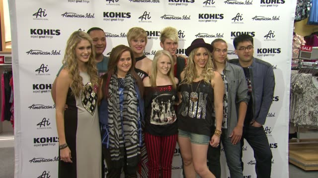 american idol season 11 contestants appear at los angeles kohl's for american idol's authentic icon collection event capsule clean american idol... - american idol stock videos and b-roll footage