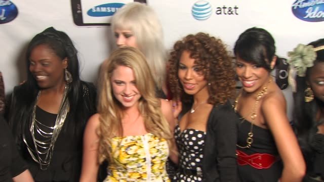 american idol semi-finalists event, west hollywood, ca, united states, 02/18/10 - 準決勝点の映像素材/bロール