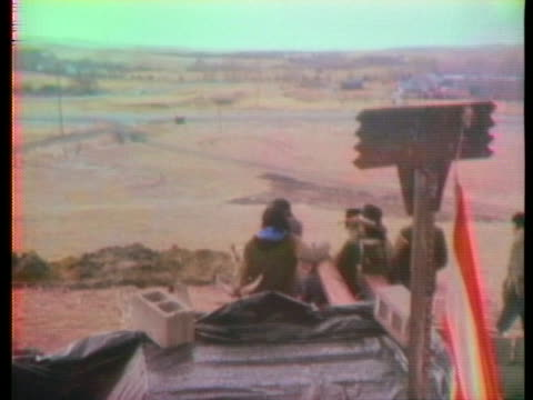 american indians occupy wounded knee in an effort to protest the unlawful imprisonment of human rights activist leonard peltier. - minority groups stock videos & royalty-free footage