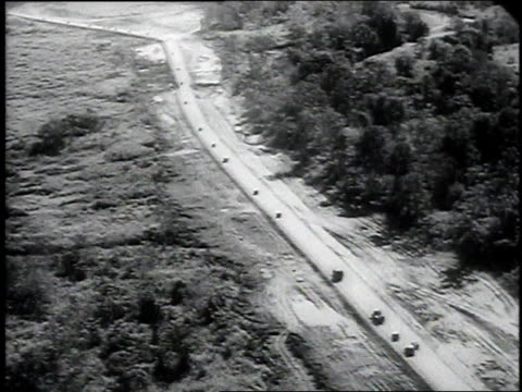 american military convoy drives down stillwell road / china - 1946 stock videos and b-roll footage