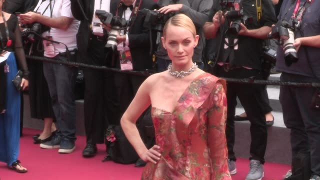 american model amber valletta on the red carpet for the premiere of wonderstruck at the cannes film festival 2017 on may 17 2017 in cannes france - amber valletta stock videos and b-roll footage