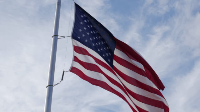 American national flag in the wind