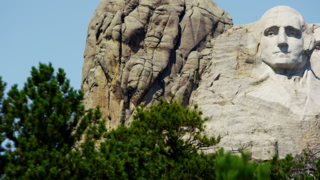american national memorial mount rushmore south dakota usa - george washington stock-videos und b-roll-filmmaterial
