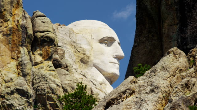 american national memorial mount rushmore south dakota usa - ジョージ・ワシントン点の映像素材/bロール