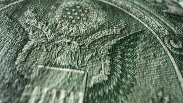 american one dollar bill - bird of prey stock videos & royalty-free footage