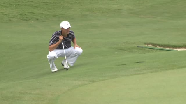 kdaf american professional golfer jordan spieth at the bryan nelson championship on may 23 2010 - pga event stock videos and b-roll footage