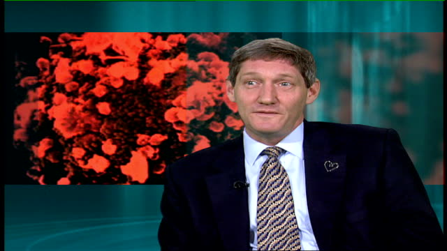 american research presents new theory on spread of hiv virus; england: london: gir: int nick partridge interview sot - retrovirus video stock e b–roll