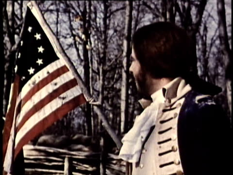 1969 reenactment montage ms american revolutionary soldiers of artillery preparing for battle / united states  - american revolution stock videos & royalty-free footage