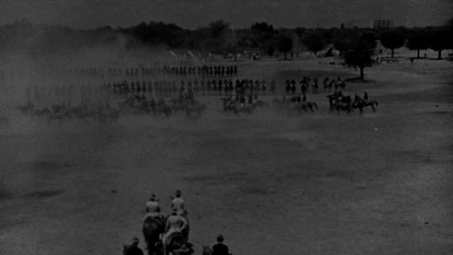 american rough riders review before teddy roosevelt on a parade ground during the spanish-american war. - fade in video transition stock videos & royalty-free footage