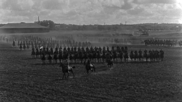 american rough riders ride in formation on a parade ground during the spanish-american war. - cavalry stock videos & royalty-free footage