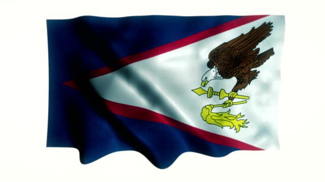 american samoa state flag - samoa stock videos & royalty-free footage