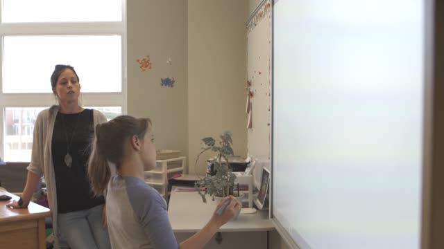 american school education activities children smart board - interactive whiteboard stock videos & royalty-free footage