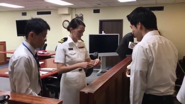 american service members joined japanese law enforcement and prosecutors in court for the military justice exhibition the exhibit simulated a trial... - ceremonial robe stock videos and b-roll footage