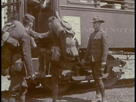 american soldiers deploying during wwi / united states - 1917 stock videos & royalty-free footage