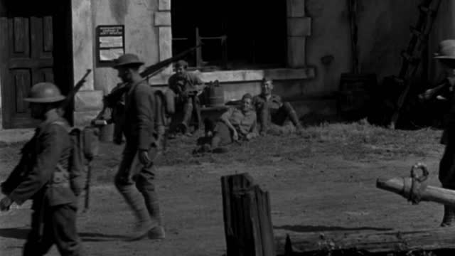 american  soldiers move through a bombed french village during world war i. - 1920 1929 stock videos & royalty-free footage
