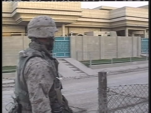 american soldiers patrol a street in iraq. - (war or terrorism or election or government or illness or news event or speech or politics or politician or conflict or military or extreme weather or business or economy) and not usa stock videos & royalty-free footage